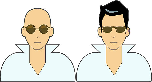 cool dudes vector icons - old man pic cartoons stock illustrations, clip art, cartoons, & icons
