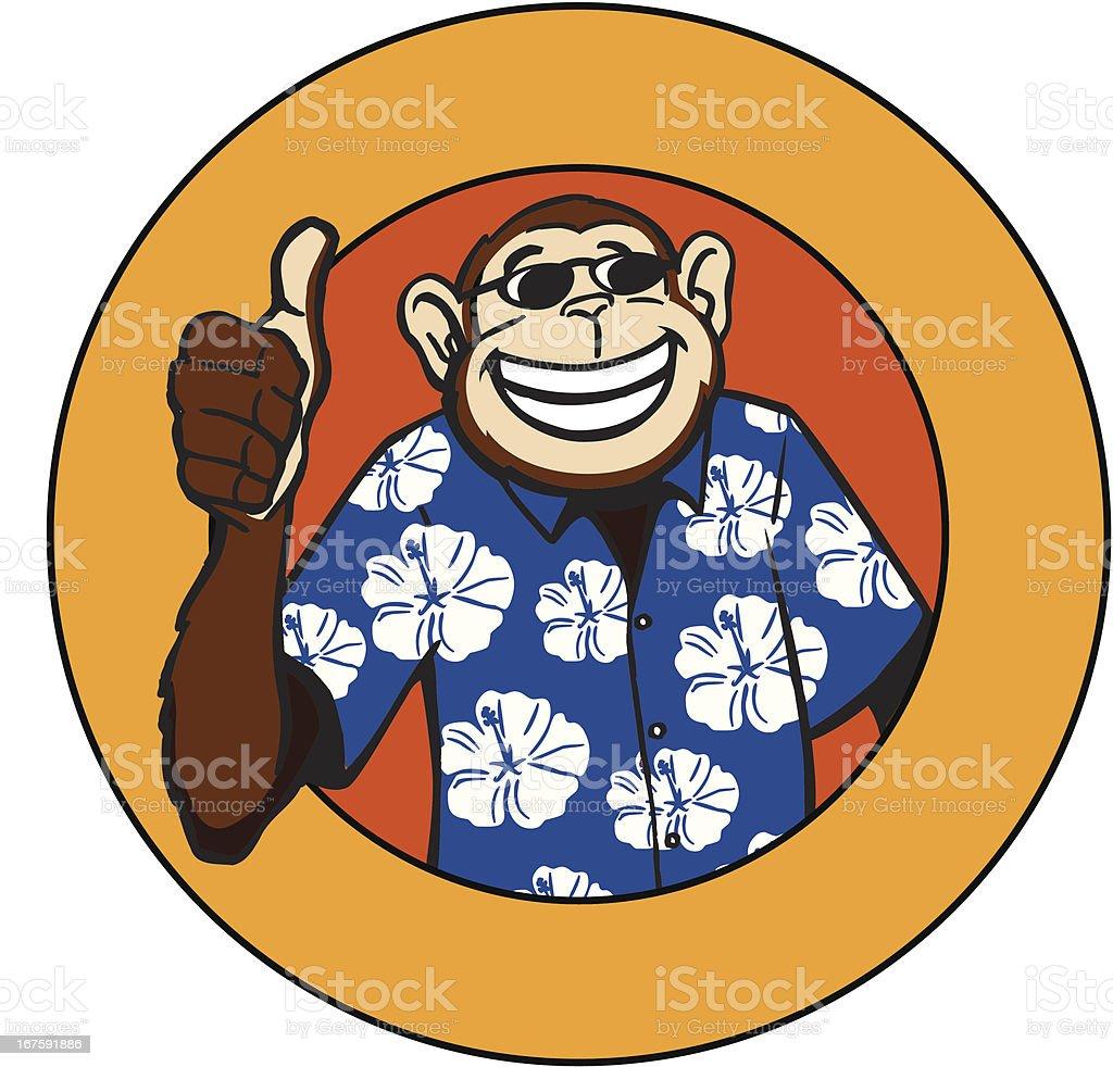 Cool Monkey vector art illustration