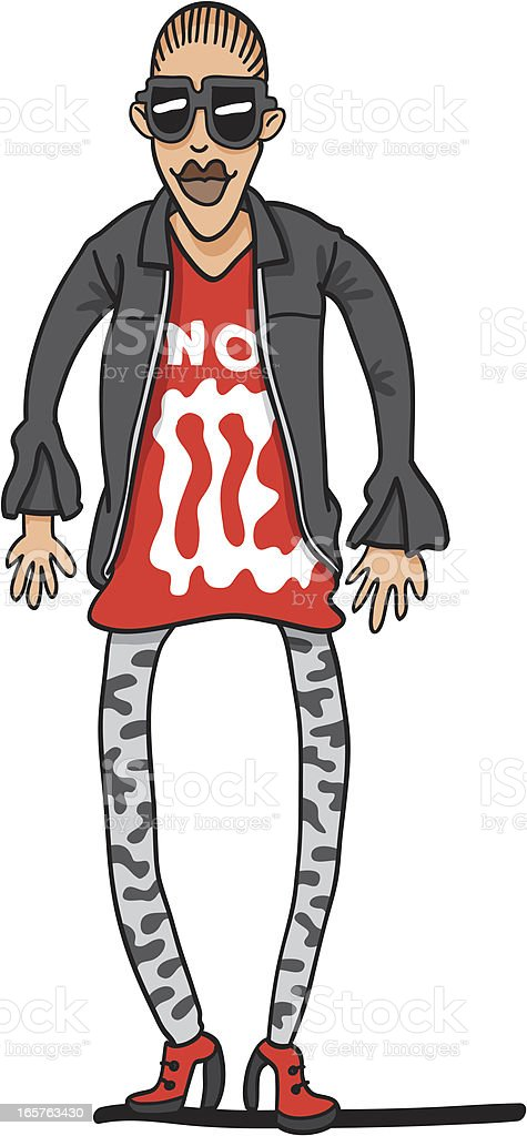 Cool Woman Sunglasses Character vector art illustration