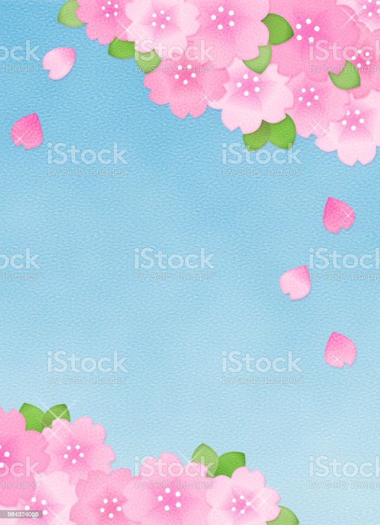 Copy space of cherry blossom and sky royalty-free copy space of cherry blossom and sky stock vector art & more images of backgrounds