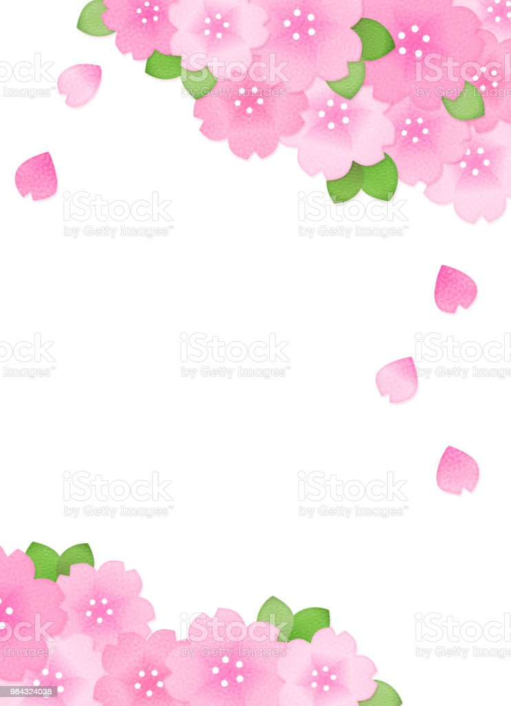Copy space of cherry blossom vector art illustration