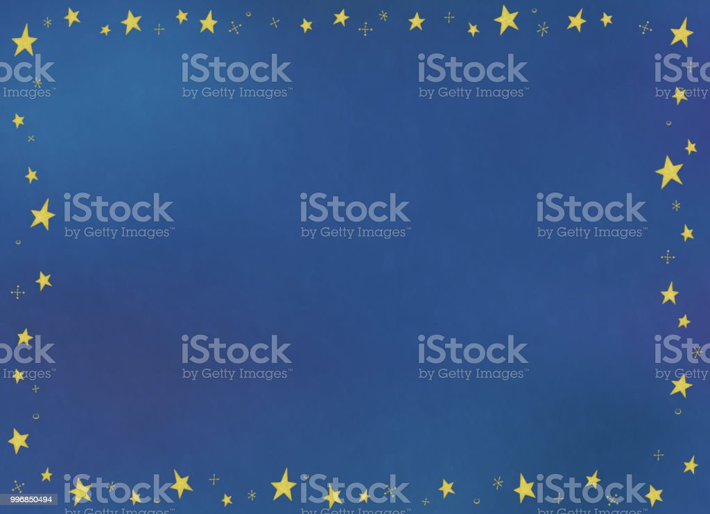 Copy space of watercolors-style star pattern frame vector art illustration
