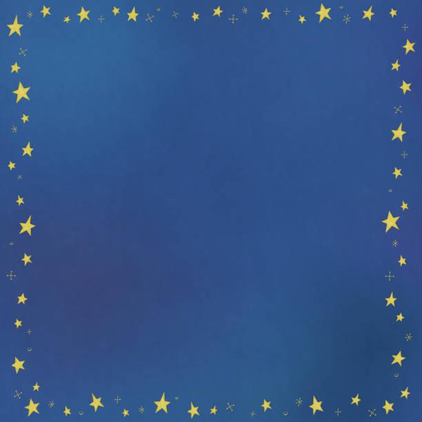 水彩画風星のパターン フレームの領域をコピーします。 ベクターアートイラスト
