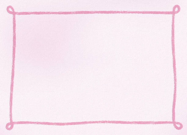 クレヨンで描かれたシンプルなフレームを持つ領域をコピーします。 ベクターアートイラスト