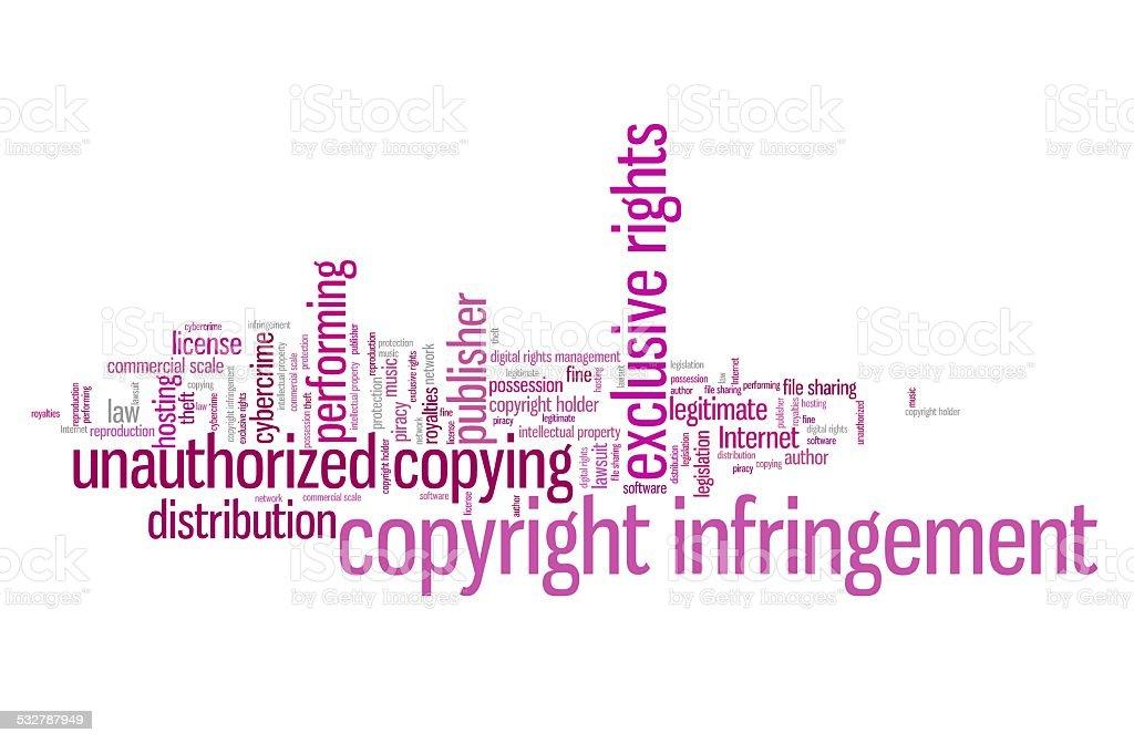 Copyright vector art illustration