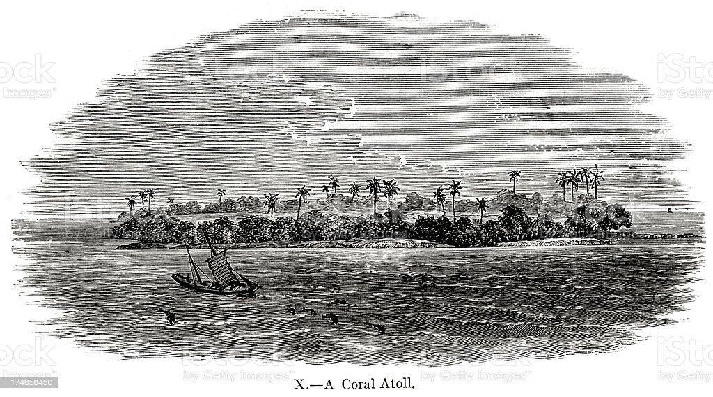 Coral Atoll royalty-free stock vector art