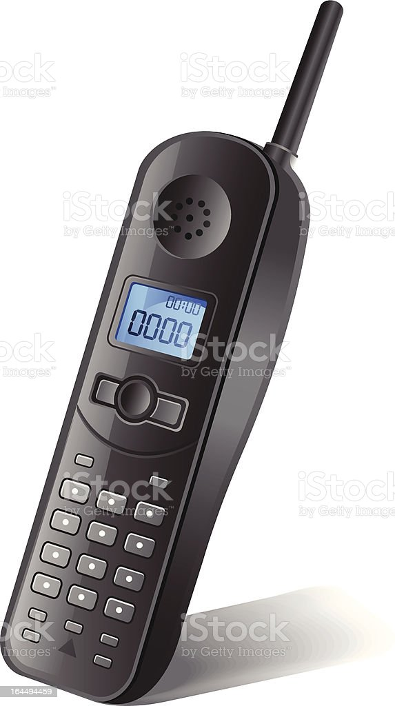 Cordless Phone vector art illustration