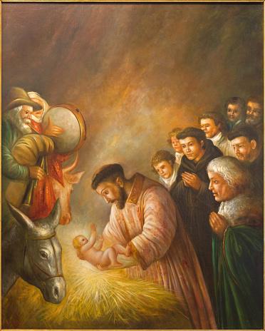 Cordoba - st. Francis of Assisi in Nativity scene