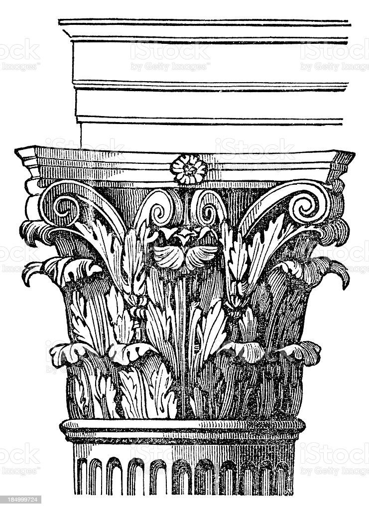 Corinthian Column vector art illustration