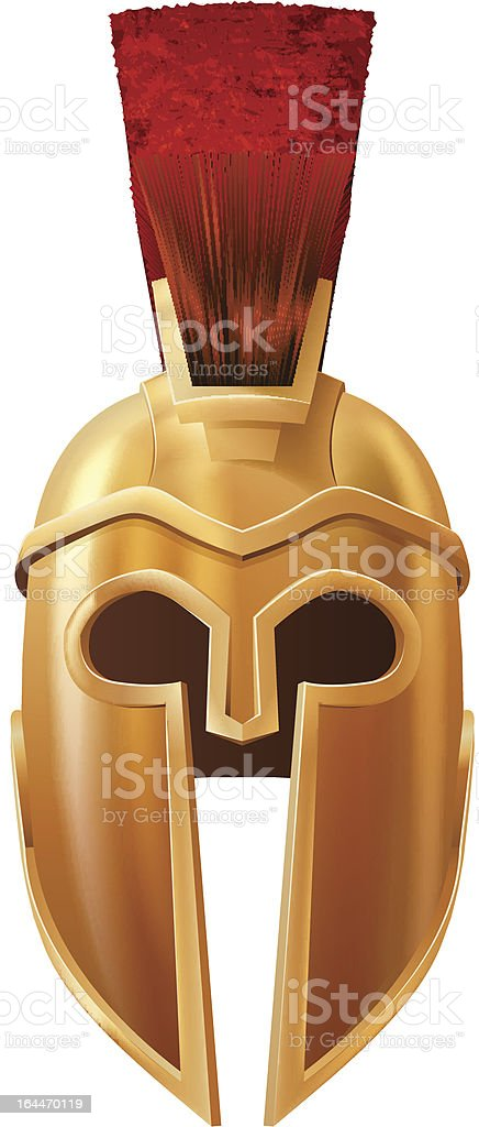 Corinthian helmet vector art illustration