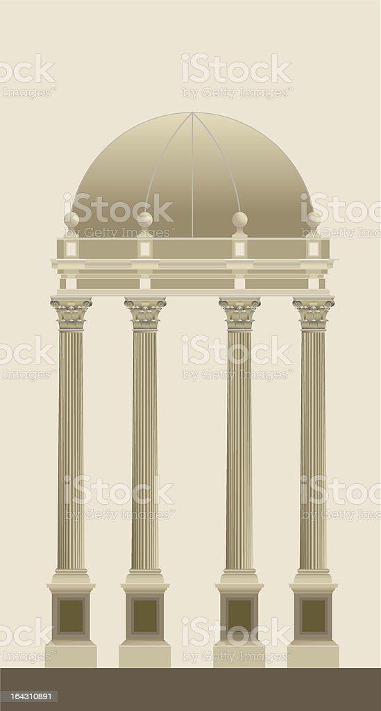 Corinthian Temple vector art illustration