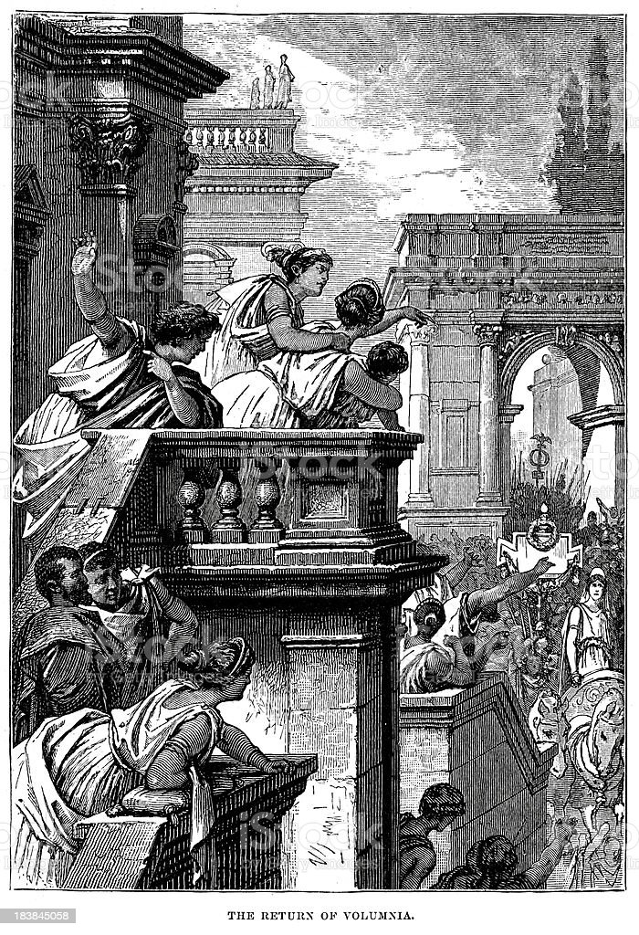 Coriolanus - The Return of Volumnia royalty-free stock vector art