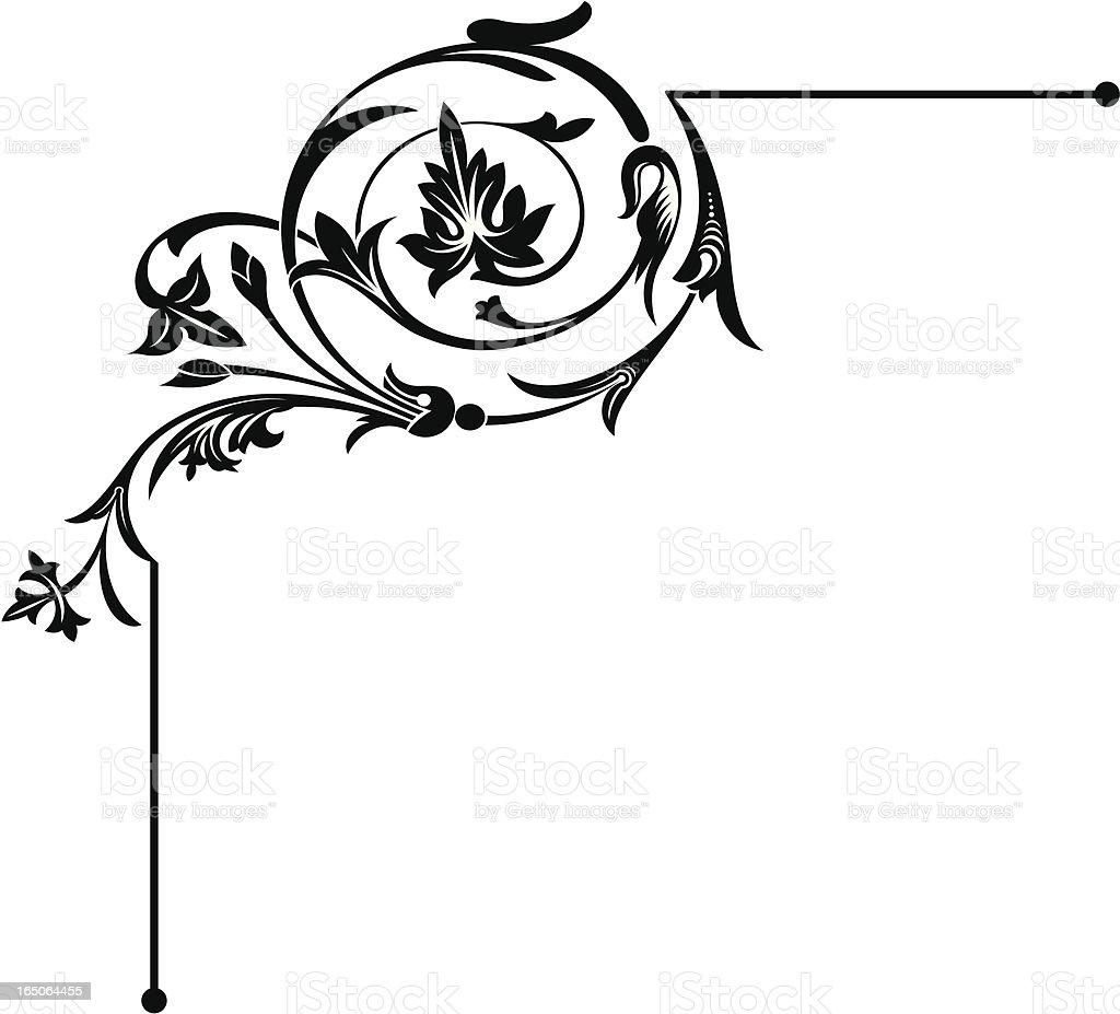 Corner Flourish vector art illustration