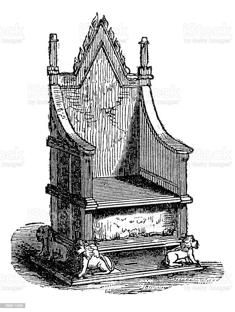 Coronation Chair vector art illustration