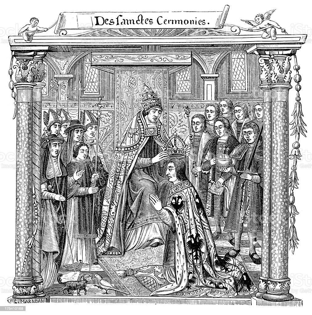 Coronation of the Holy Roman Emperor vector art illustration