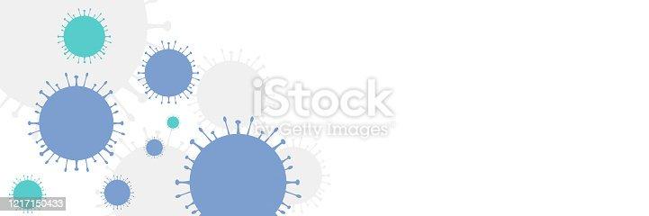 istock Coronavirus abstract background. 1217150433