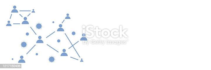 istock Coronavirus abstract background. 1217150435