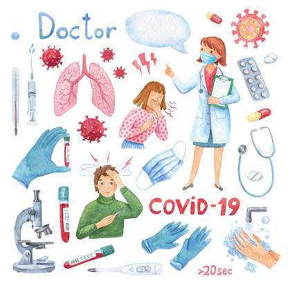 Coronavirus : CoV infographics elements. Pneumonia disease. COVID-19 prevention. Coronavirus outbreak. Pandemic. Stop dangerous virus.