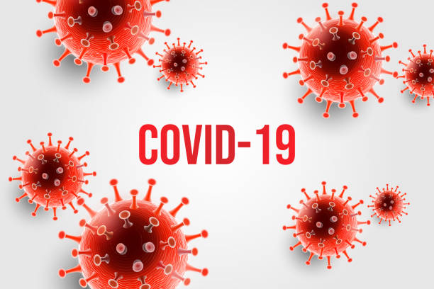 Coronavirus disease COVID-19 infection medical with typography and copy space. New official name for Coronavirus disease named COVID-19, pandemic background illustration vector art illustration