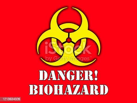 istock Coronavirus warning sign - COVID-19 1213634326