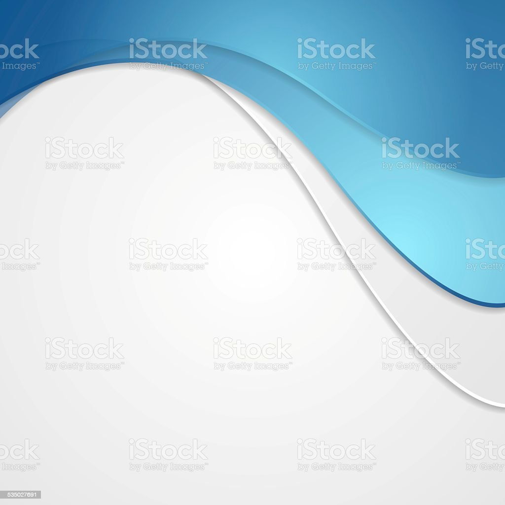 Corporate background with waves vector art illustration