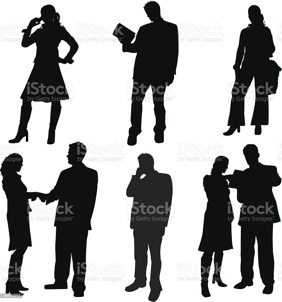 Corporate Group royalty-free stock vector art