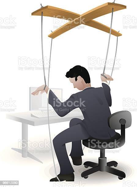 Corporate Puppet-vektorgrafik och fler bilder på Affärsman