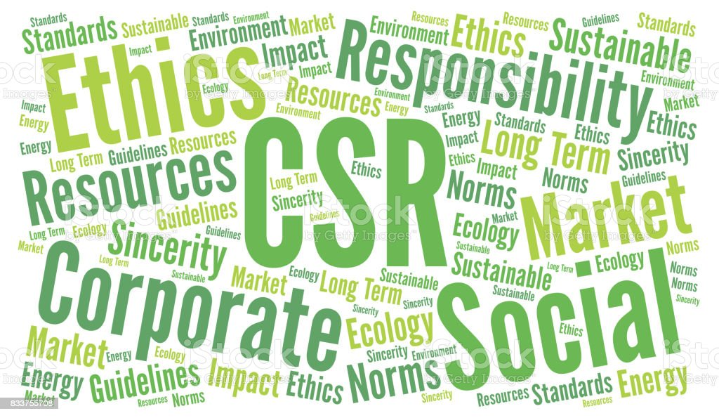Csr Corporate Social Responsibility Word Cloud Stock ...