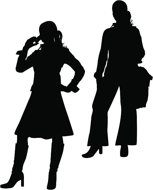 Corporate Women vector art illustration