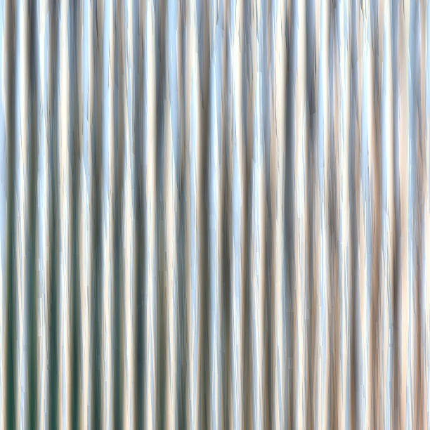 Corrugated iron sheet generated texture vector art illustration