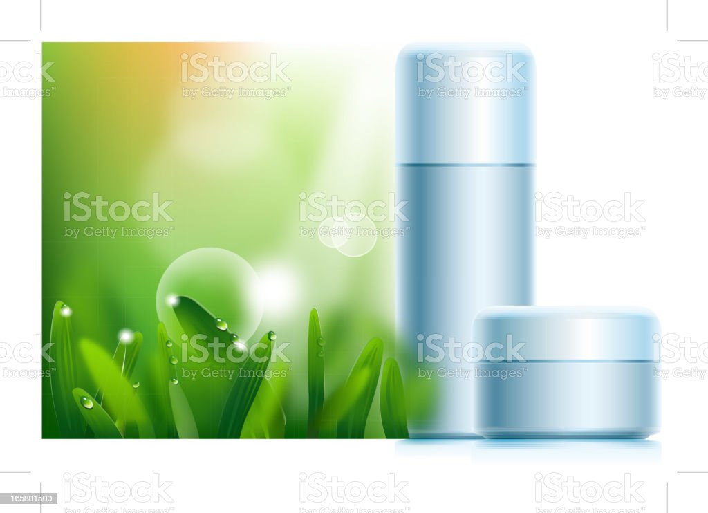 Cosmetic product vector art illustration
