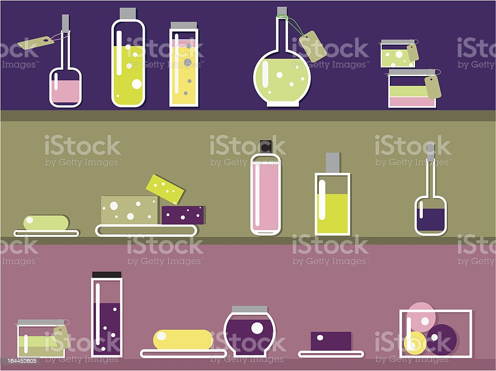 Cosmetic shop royalty-free stock vector art