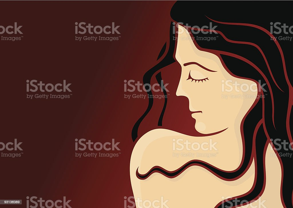 Cosmetics girl 3 royalty-free stock vector art