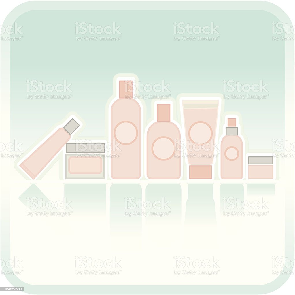 Cosmetics Line royalty-free stock vector art