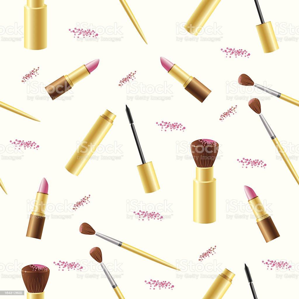Cosmetics seamless background royalty-free stock vector art