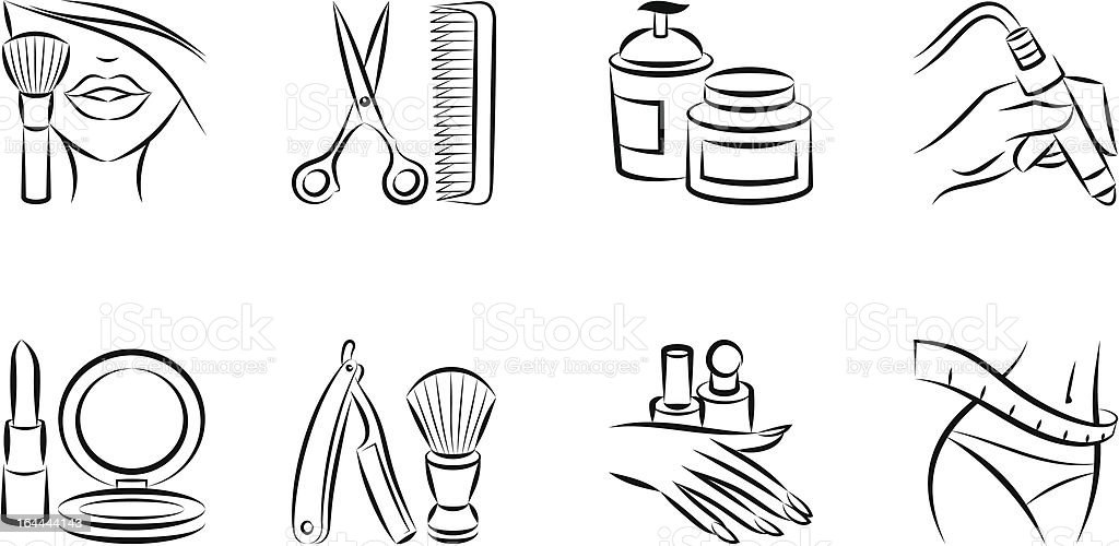 cosmetology and body care icons stock vector art  u0026 more