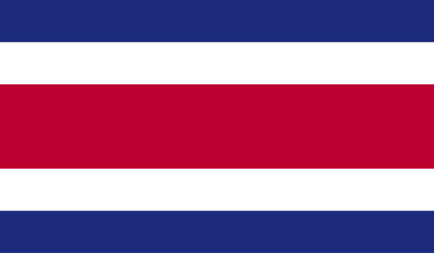 Costa Rica flag vector art illustration