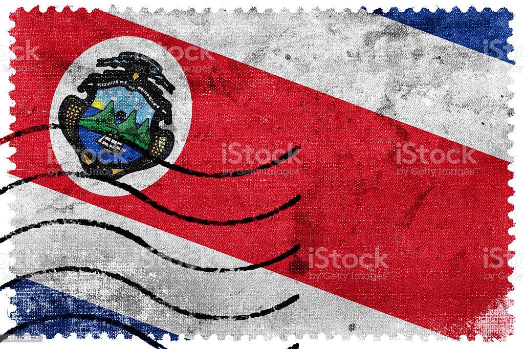 Bandeira da Costa Rica-o Selo Postal - ilustração de arte em vetor