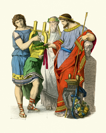 Costumes of Ancient Greece, King, Musician, Priest of Bachus
