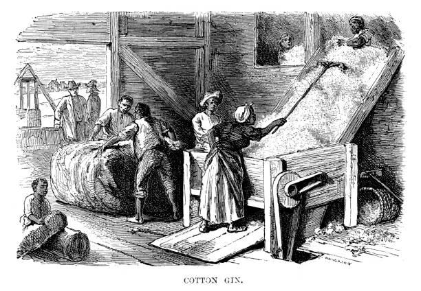Cotton Gin vector art illustration