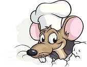 Vector Illustration of a rat chef. File saved on layers.