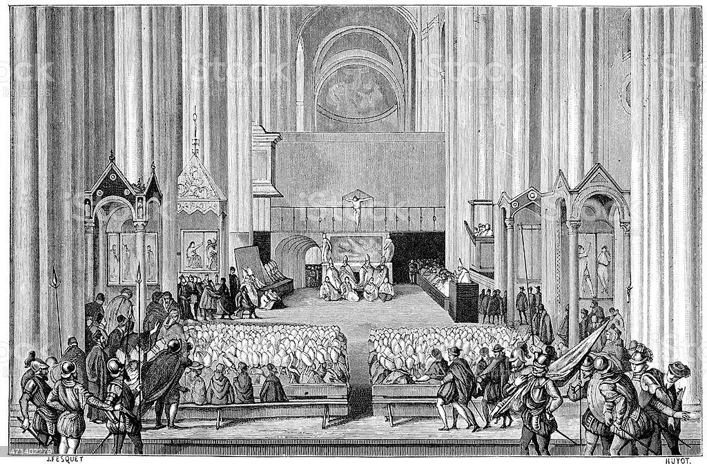 Council of Trent vector art illustration