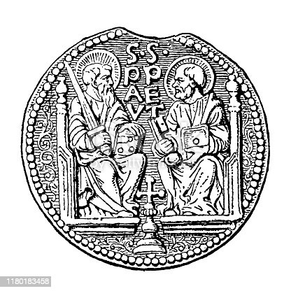 Illustration of a Counterfeit lead seal of Pope Paul I