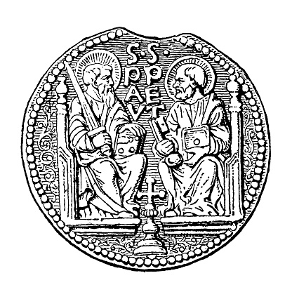 Counterfeit lead seal of Pope Paul I