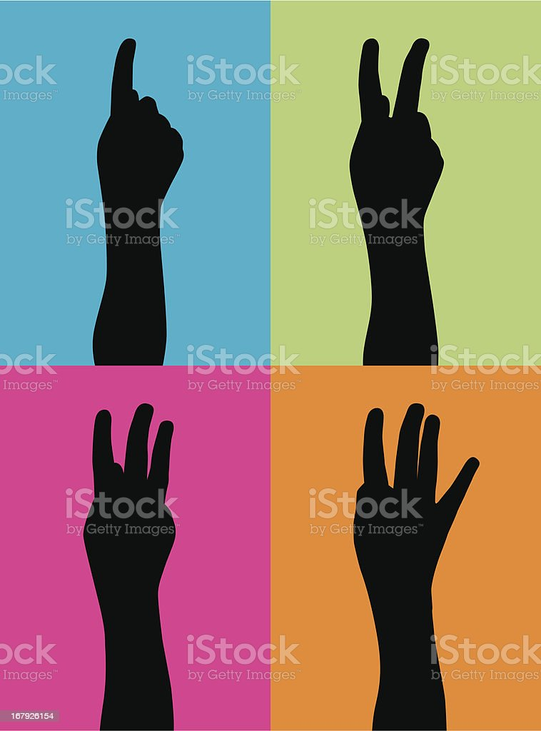 Counting Hands royalty-free stock vector art