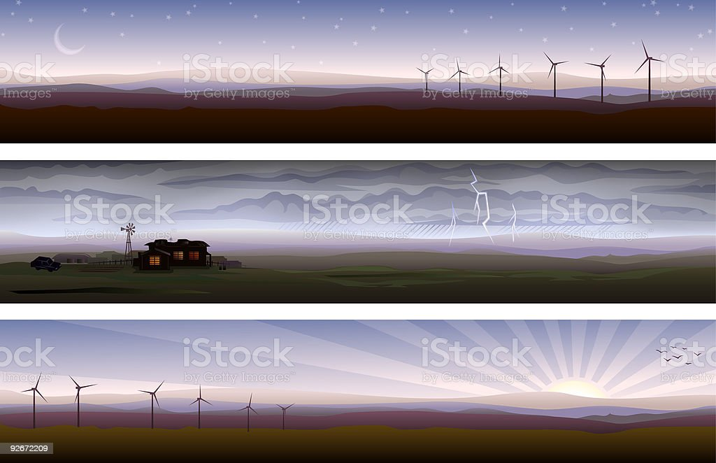 Countryside banners royalty-free stock vector art