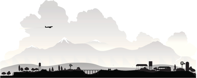 countryside silhouette