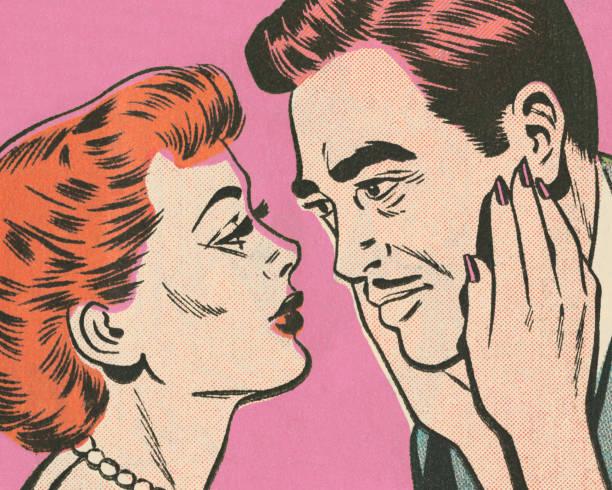 couple - redhead stock illustrations