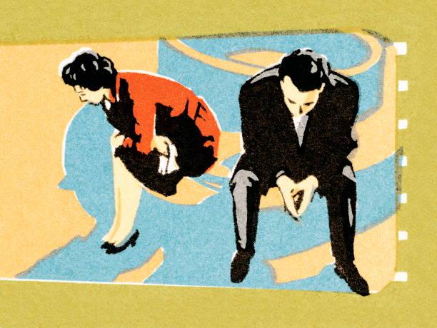 illustrazioni stock, clip art, cartoni animati e icone di tendenza di coppia in disaccordo - divorzio
