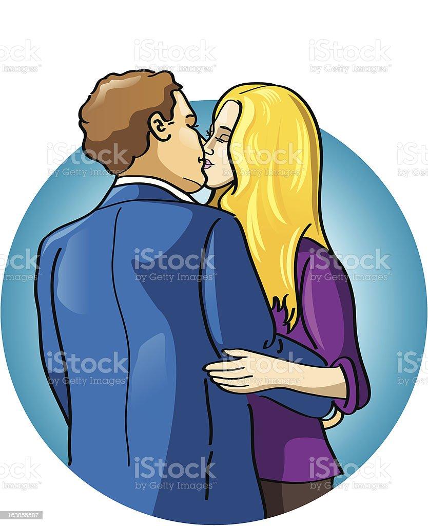 カップルのキス のイラスト素材 163855587 | istock